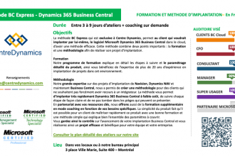 Dynamics 365 Business Central – Méthode d'implantation rapide BC Express